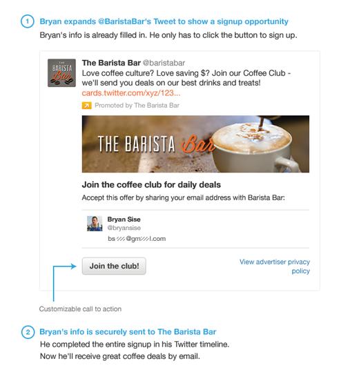 Lead Generation Cards, el nuevo formato publicitario de Twitter