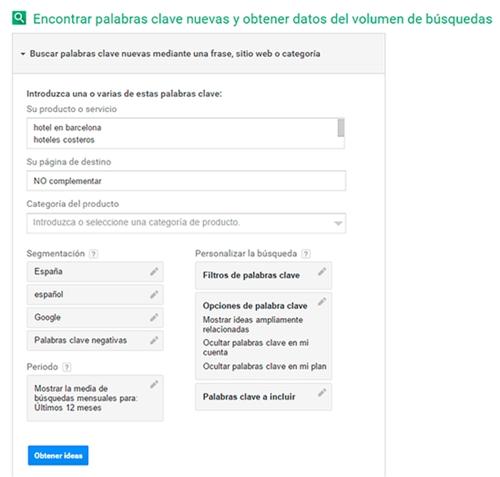 18 mayo. Google Keyword Planner 2