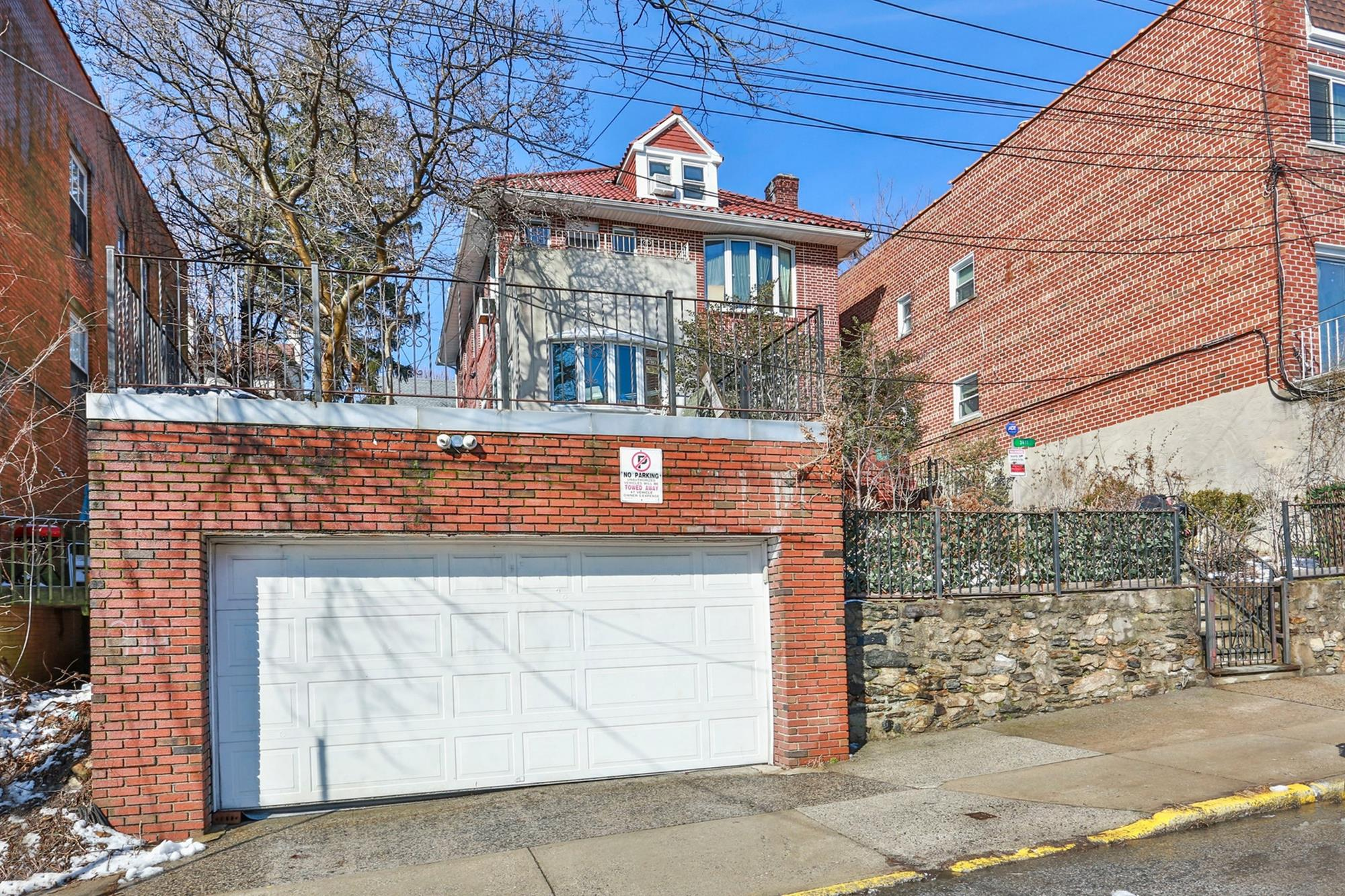 2-Family Brick House w/ Garage, Patio & Roof Terrace at 3411 Riverdale Ave.
