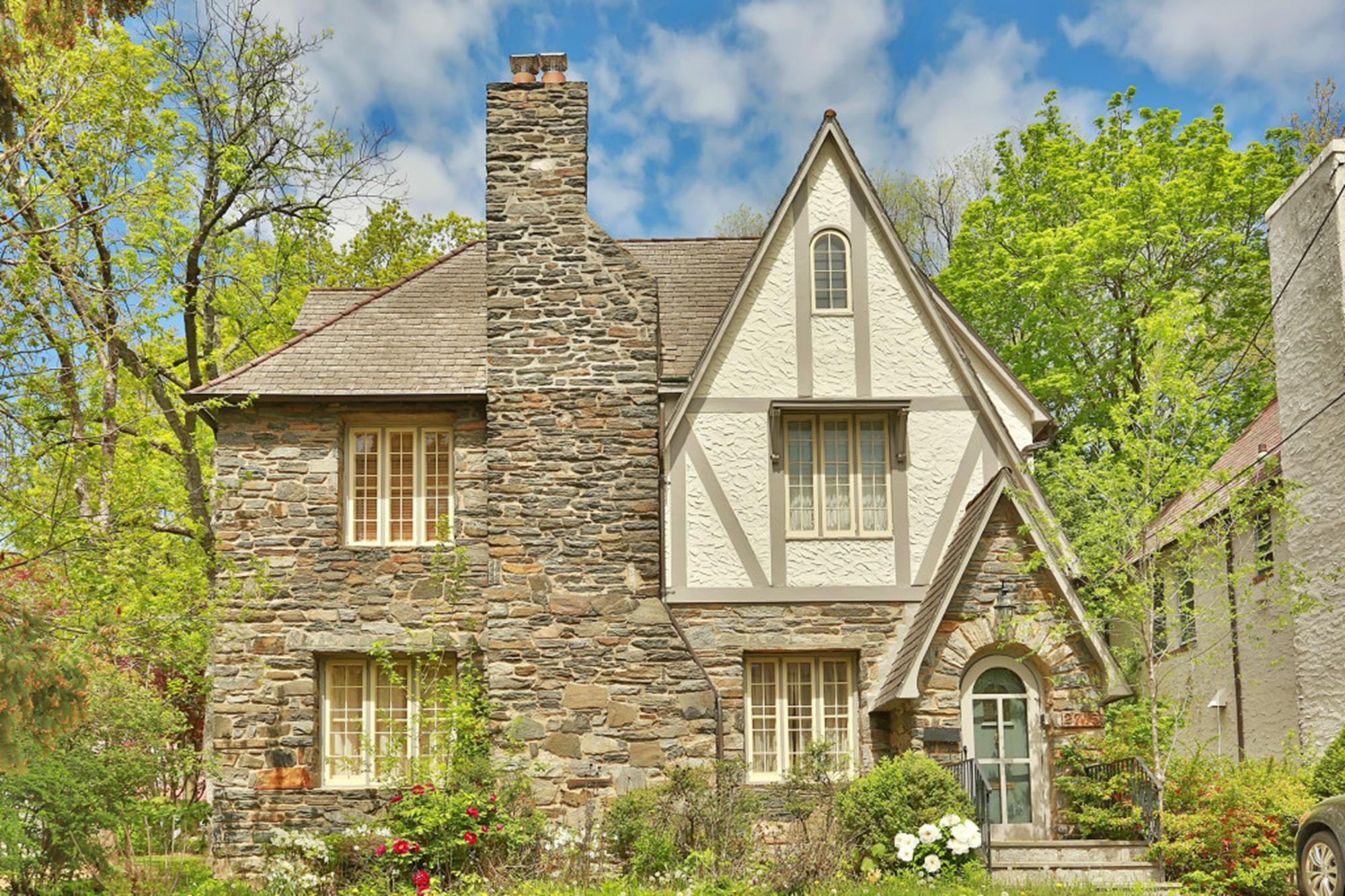 Classic 4-Bd. Stone & Stucco Tudor-Style House w/ Patio & Backyard on Arlington Avenue