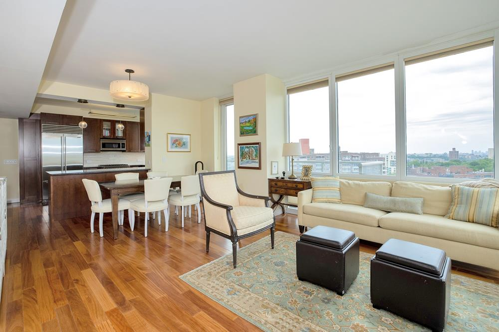 Contemporary Luxury: Richly Appointed 4-Bd. Condo w/ Balcony, 24-Hr. Doormen & Dramatic River Views at Solaria