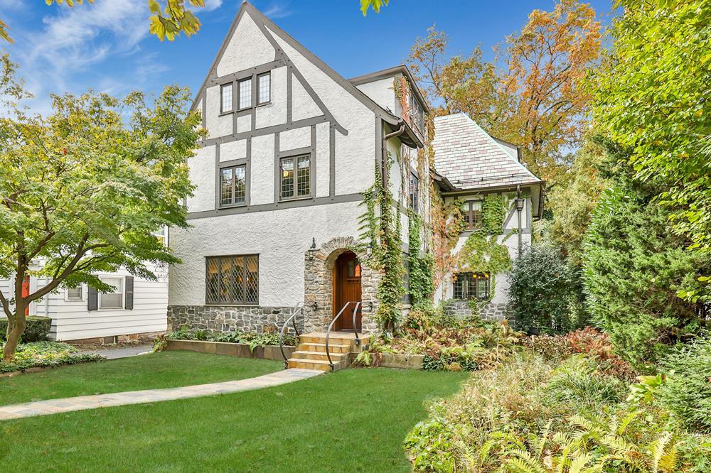 6-Bd. Stucco Tudor w/ Gracious Historic Interior, Rear Decks & Level Backyard