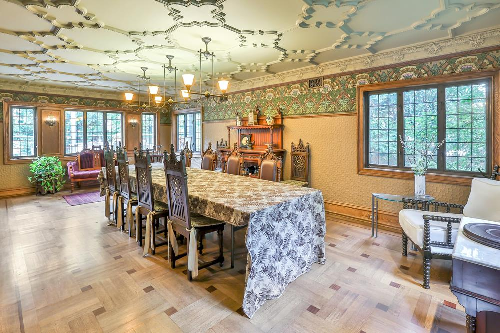 6-Bd. Stucco Tudor w/ Gracious Historic Interior, Rear Decks & Level Backyard