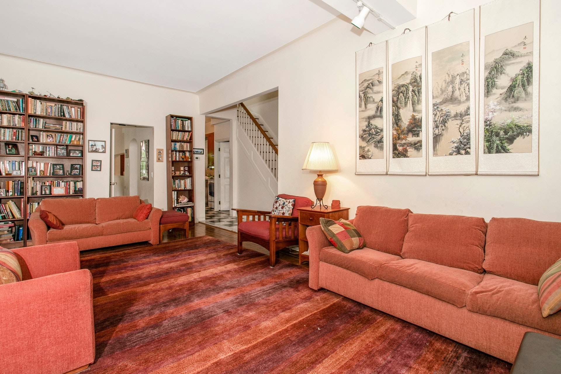 4-Bd. Brick House w/ High Ceilings, Charming Deck & 2-Car Garage