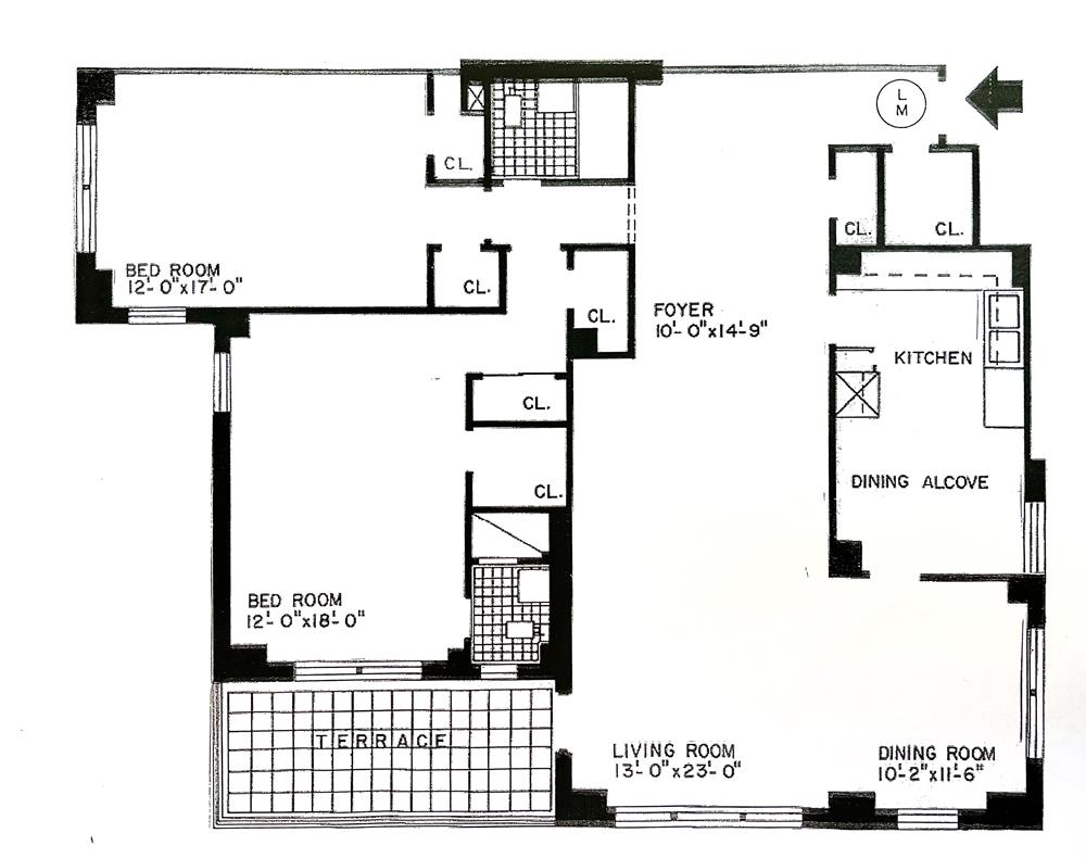 Spacious 2-Bd. (Convertible 3-Bd.) w/ Balcony & 24-hr. Doormen