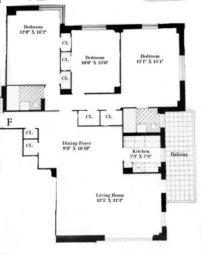 NO FEE: Large 3 Bd, 2 bath, Dining area, Sunrise Balcony, Doorman, Fitness Room, near shops, transportation & dog run. !!!