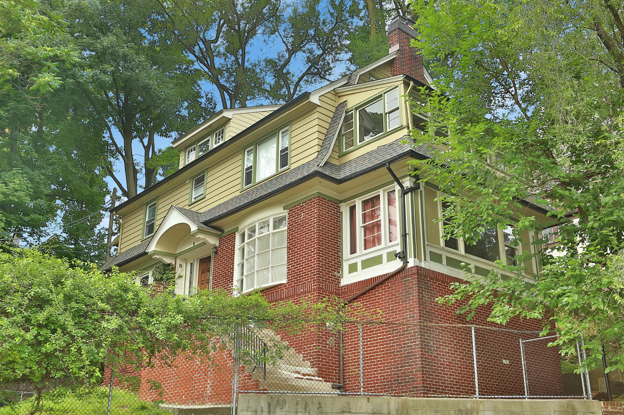VAN CORTLANDT CREST: 5-Bd. 1920s Dutch Colonial-Style House on Berkeley Avenue