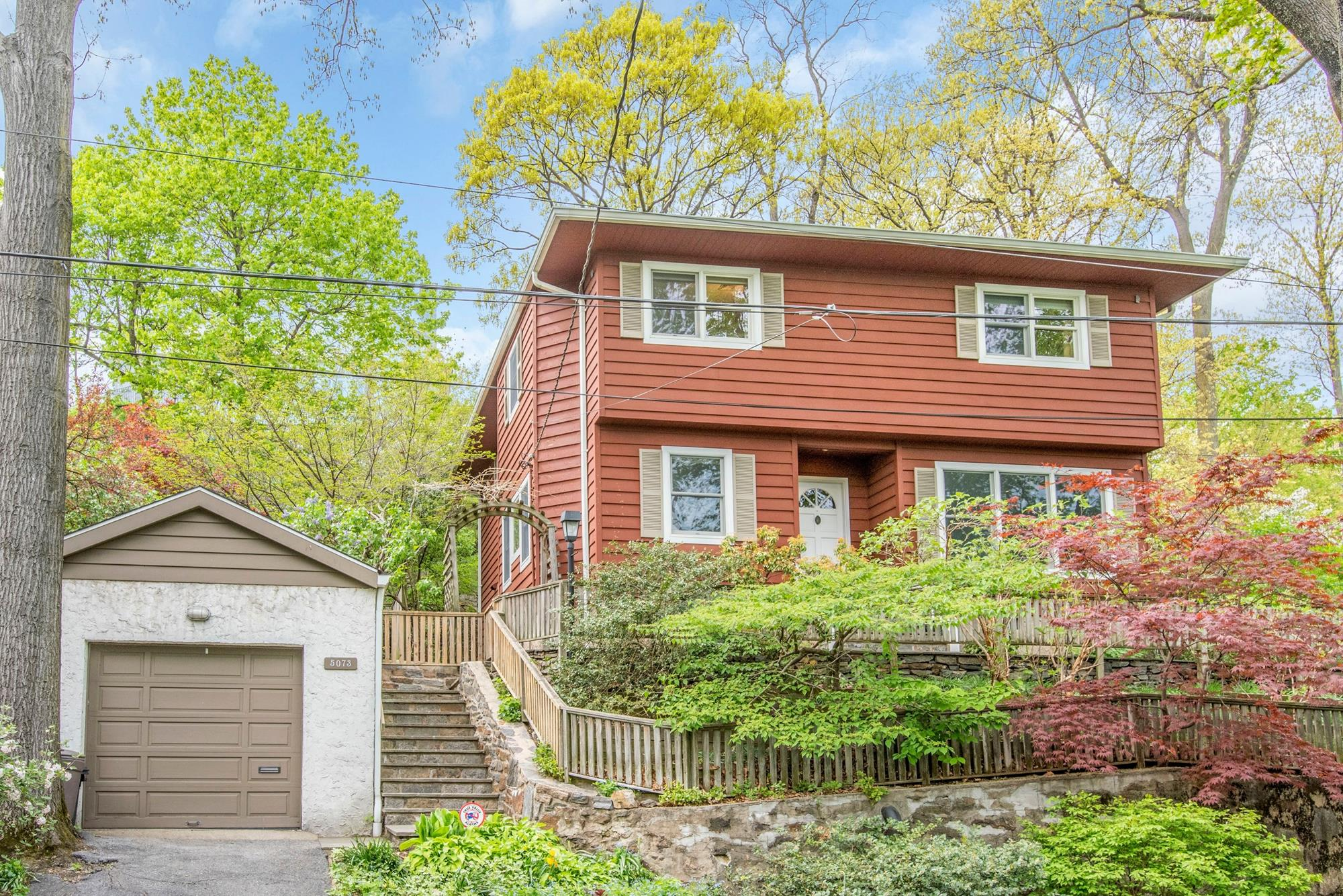 Spacious 3-Bd. House w/ Family Rm. & 2nd Master Bd.; Large Grounds w/ Patio & Garden at 5073 Fieldston Road