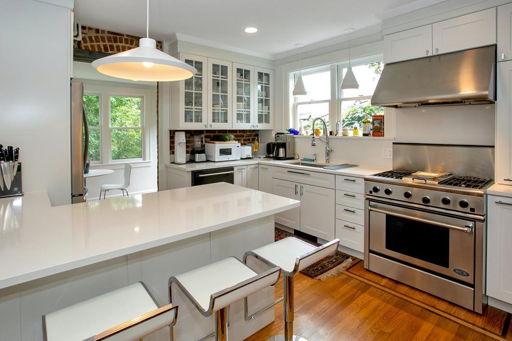 NEWLY LISTED: Stylishly Renovated 3-Bd. Brick House w/ Lovely Side & Back Yards, Patio & Garden
