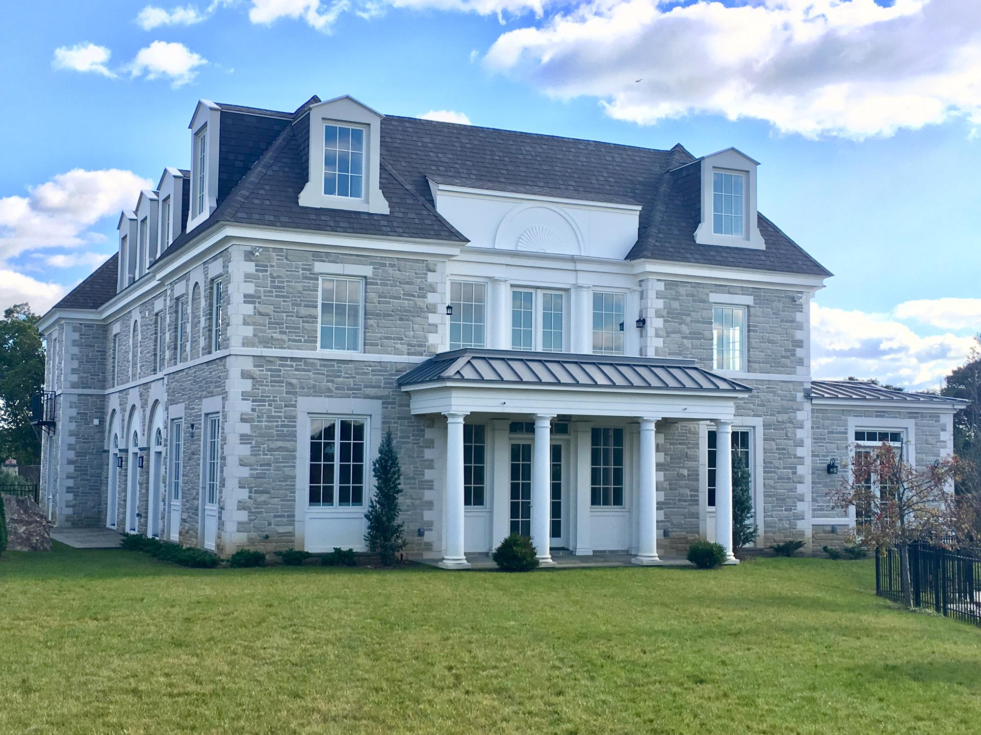 RIVERDALE MANSION:  Grand 8-Bedroom, 6.5-Bath, 10,700+ sq. ft., American Chateau-style house in exclusive, private community.  Multiple porches & commanding views.  Private outdoor swimming pool.  Attached 4-car garage. Exquisite details & luxurious amenities.   Completion Summer 2018.
