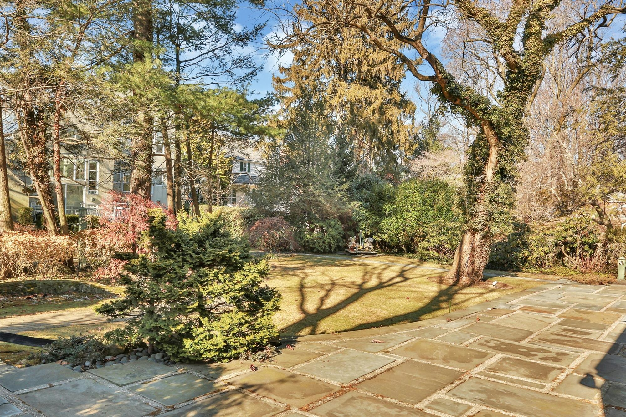 TWO FIELDSTON HOUSES ON ADJOINING LOTS: 5-Bd. House + 4-Bd. Guest House w/ Indoor Pool