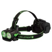 LED Lenser XEO19R - 1000 LUMENS Rechargeable Head Lamp Soft Case with Sleve - Black/Green