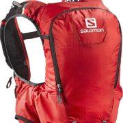 Salomon Skin Pro 15 Set Trail Running Hydration Backpack - Bright Red Black