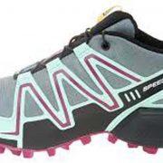 Salomon Speedcross 3 CS  Women's Weatherproof Trail Running Shoes - Light TT/lucitegreen/MysticPurple