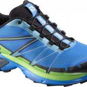 Salomon Wings Pro 2 Mens Trail Running Shoes - Bright Blue/Black/tonicgreen