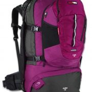 Black Wolf Cuba 75L Expandable Travel Pack & Zip-off daypack - Magenta