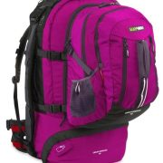 Black Wolf Cedar Breaks 65L Travel Backpack & Zip-off daypack- Magenta