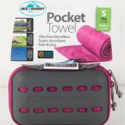 Sea To Summit Microfibre Pocket Towel Small - Berry