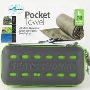 Sea To Summit Microfibre Pocket Towel Large - Lime