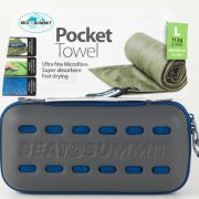 Sea To Summit Microfibre Pocket Towel Large - Cobalt