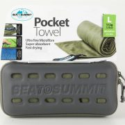 Sea To Summit Microfibre Pocket Towel Large - Eucalyptus