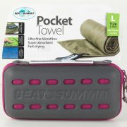 Sea To Summit Microfibre Pocket Towel Large - Berry