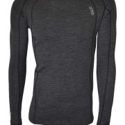 XTM Merino Mens Crew Neck Base Thermal Top - Grey Marle