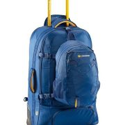 Caribee Fast Track 85L Wheeled Travel Pack with Daypack - Navy