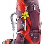 Deuter ACT LITE 45+10 SL Womens Hiking Rucksack - Aubergine/Fire