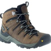 KEEN Gypsum Mid Waterproof Men's Hiking Boots - Dark earth / Gray