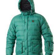 Vigilante Helvetica Mens Puffer DOWN Jacket - Golf green