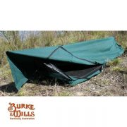 Burke and Wills Ironbark DOUBLE Deluxe Traditional Canvas Swag - PVC BASE