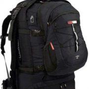 Black Wolf Cuba 75L Expandable Travel Pack & Zip-off daypack - Black