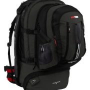 Black Wolf Cedar Breaks 75L Travel Backpack & Zip-off daypack - Black