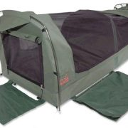 Sahara Vagabond Deluxe King Single Dome Canvas Swag and Bag