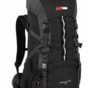 Black Wolf Mountain Ash 55L Hiking Rucksack Pack - Black/charcoal