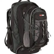 Black Wolf Grand Teton 65LTravel Pack & Zip-off AirTech Daypack - Black