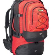 Black wolf Cancun 80L Travel Backpack & Detachable Daypack Chilli