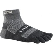 Injinji Trail Midweight Crew Performance Toe Socks- Granite