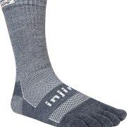 Injinji Outdoor Original Weight Crew Performance Toe Socks- Granite