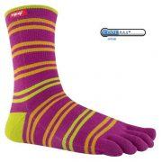 Injinji Sport Crew performance toe socks - Pink/Orange