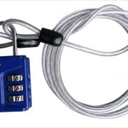 Lonely Planet TSA Travel Lock with Cable Blue