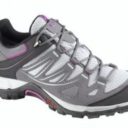Salomon Ellipse GoreTex Womens Light Hiking Shoe -  Light Onix / Dark Cloud / Pink - 7