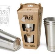 Klean Kanteen 500ml Stainless Steel Pint Cup - 4 Pack