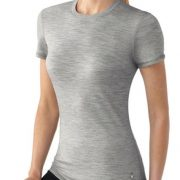 SMARTWOOL WOMENS MICROWEIGHT TEE - SILVER GREY [Clothing Size:Small]