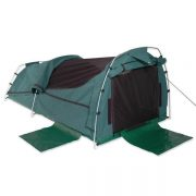 Sahara Nomad DOUBLE Dome Canvas Swag and Bag - GREEN