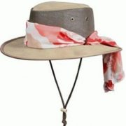 Barmah Foldaway LADIES COOLER Leather Hat - HICKORY BROWN