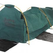 Burke and Wills Coolabah Green Single Dome Canvas Swag - Canvas base