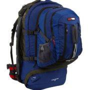Black Wolf Cedar Breaks 55L Travel Backpack & Zip-off daypack - Blue