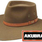 AKUBRA TERRITORY KHAKI WIDE BRIM HAT [Hat Size:59cm / 7 3/8'']